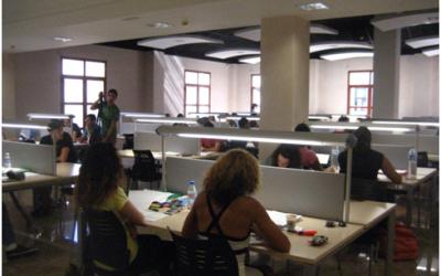La sala de estudio abre desde el lunes 22 por las mañanas, al 50% de su aforo y con cita previa