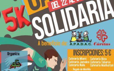 Carrera Virtual Solidaria a beneficio de Cáritas y APADAC